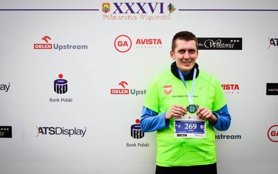 Reprezentant Feniksa na 36. Półmaratonie Wiązowskim