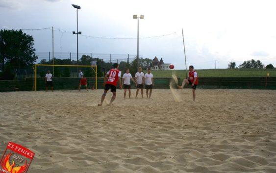 Pierwszy sparing w Piłkę Nożną Plażową LKS Feniks Opoczno