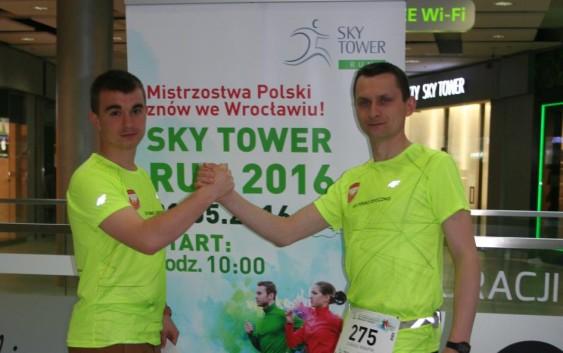 Mistrzostwa Polski w biegu po schodach Sky Tower z Feniksem